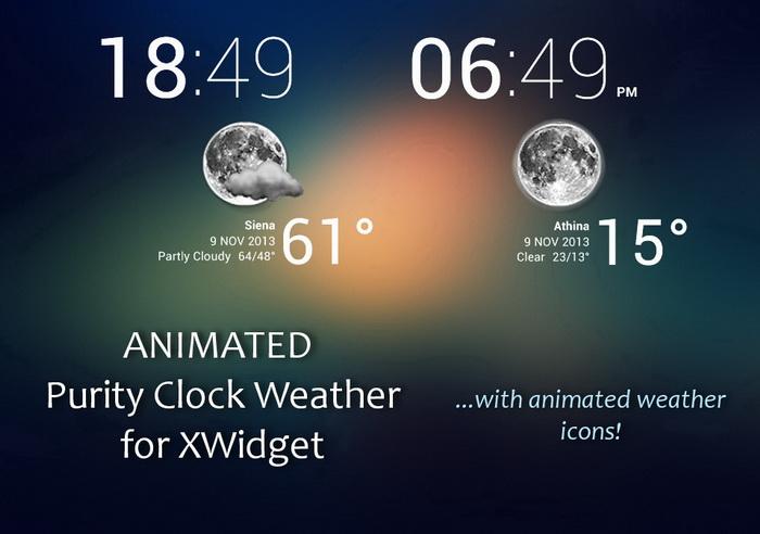 Animated Purity Clock Weatherxwidget Download Website Live