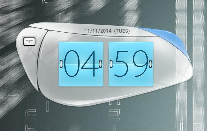 Oppo Find 5 Digital Clock HD_X Widget Download Gallery